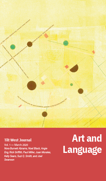 The cover of Art and Language featuring a predominantly yellow artwork